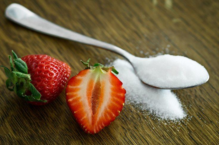 Zucker-Erdbeeren