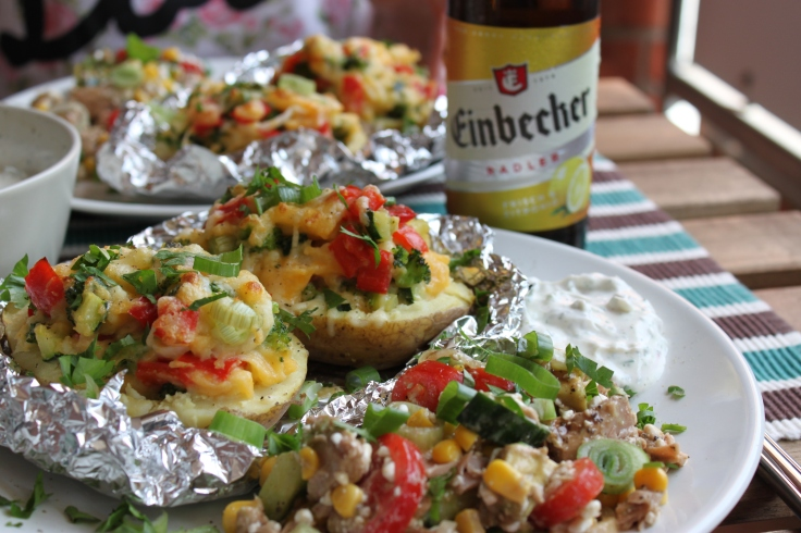 Ofenkartoffel-Gemüse-Cheddar