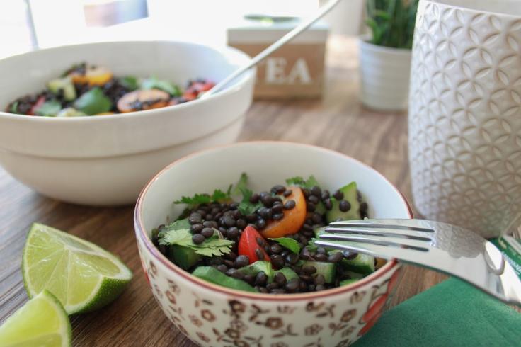 Beluga-Linsen-Salat