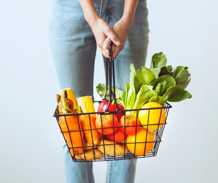 Obst-Gemüse-Frau